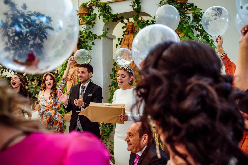 Detalles en la boda.