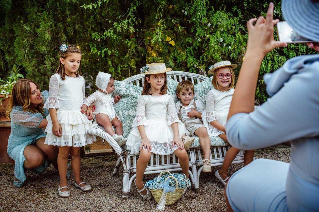 Niños en la boda.